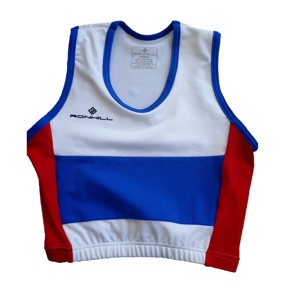 RONHILL PORTSMOUTH ATHLETIC CLUB CROP TOP WOMENS | WHITE/RED/BLUE