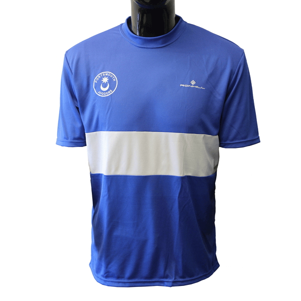 Portsmouth Joggers Short Sleeve Tee Mens | Blue