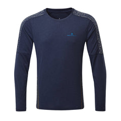 Ronhill Mens Life Night Runner Long Sleeve Tee | Deep Navy/reflect