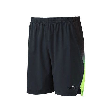 Ronhill Mens Momentum 7inch Short | Black/Forest