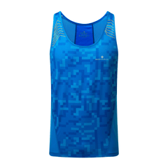 Ronhill Stride Racer Vest Mens | Electric Blue/Jaffa