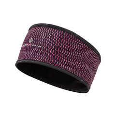 Ronhill Wind-Block Headband | Black/Azalea