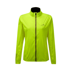 RONHILL WOMENS STRIDE WINDSPEED JACKET | FLOUYELLOW/GRAPE