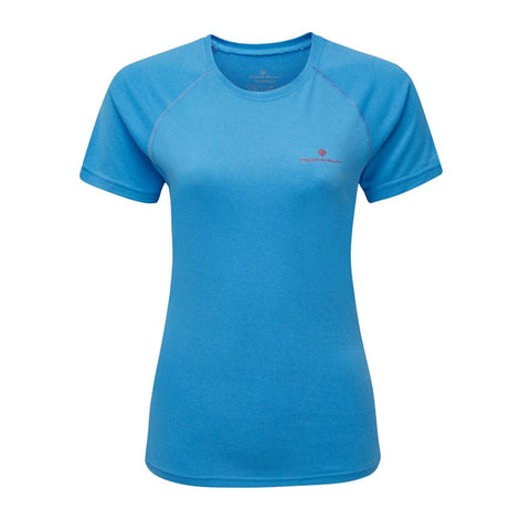 Ronhill Womens Everday Short Sleeve Tee | Skyblue/marl/cherry