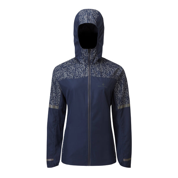 Ronhill Womens Life Night Runner Jacket | Deep Navy Reflect