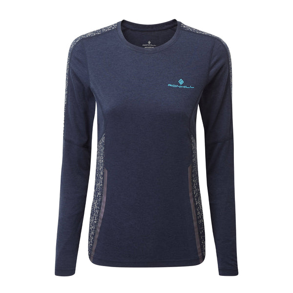 Ronhill Womens Life Night Runner Long Sleeve Tee | Deep Navy/reflect