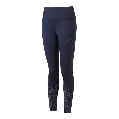 Ronhill Womens Life Night Runner Tight | Deepnavy/reflect
