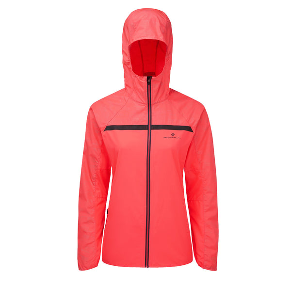 Ronhill Womens Momentum Afterlight Jacket | Hotpink/reflect
