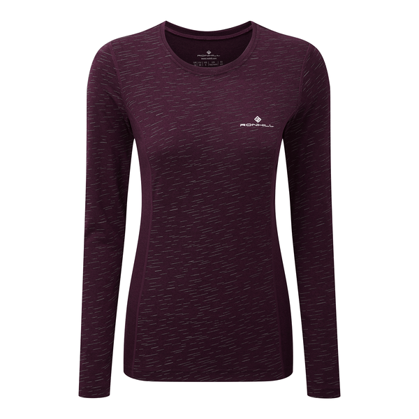 Ronhill Womens Momentum Afterlight Long Sleeve Tee | Aubergine