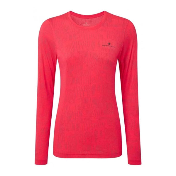 Ronhill Womens Momentum Afterlight Long Sleeve Tee | Hotpink/reflect