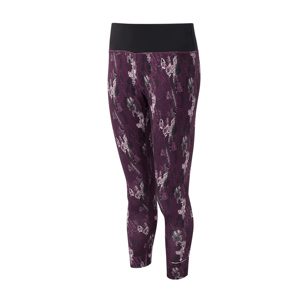 Ronhill Womens Momentum Crop Tight | Aubergine Cloud