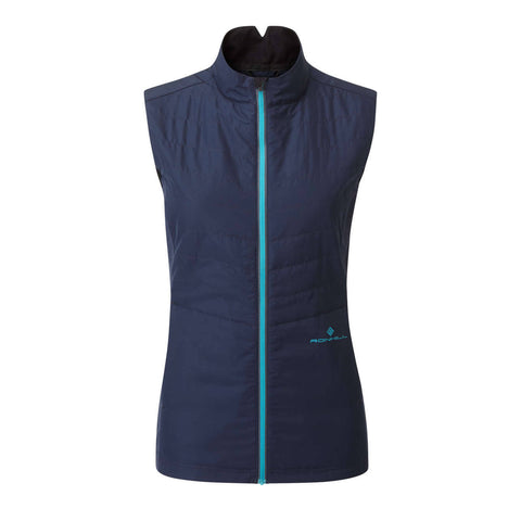 Ronhill Womens Tech Winter Gilet | Deep Navy Spa Green