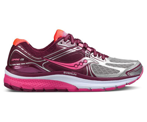Saucony Omni 15 Womens | Silver/Black/Pink