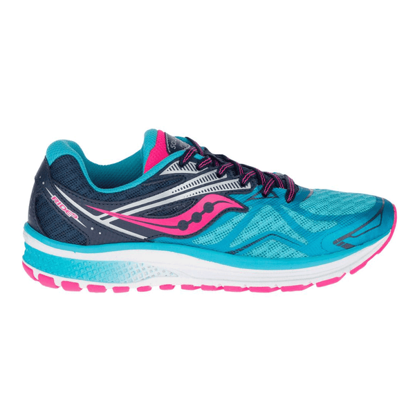 Saucony Ride 9 Girls Junior Running Shoes | Blue/Pink