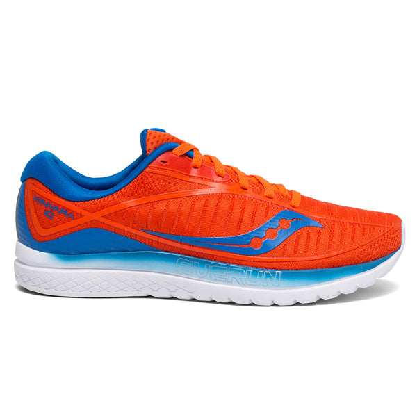 Saucony Kinvara 10 Mens | Orange/blue
