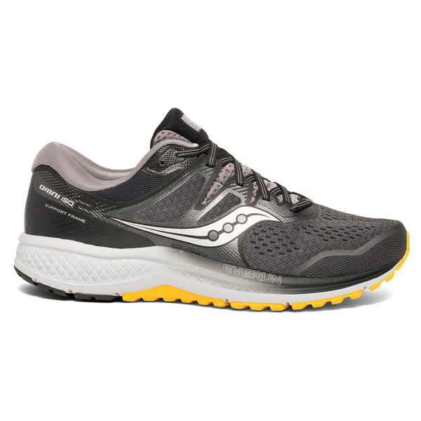 Saucony Omni Iso 2 Mens | Gry/Blk/Yel