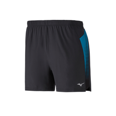 Mizuno Mens Aero 4.5 Short | Black/Turkish Blue