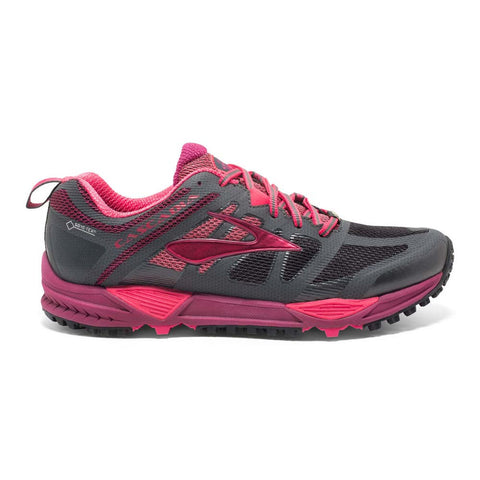 Brooks Womens Cascadia 11 GTX | Anthracite/Teaberry