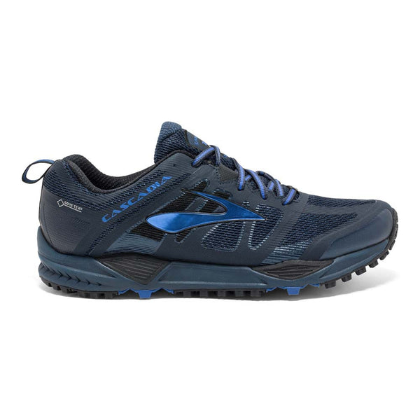 Brooks Mens Cascadia 11 GTX | Dress Blue