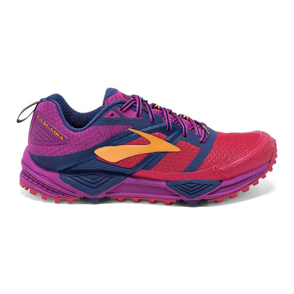 Brooks Womens Cascadia 12 | Poppy Red/Pink