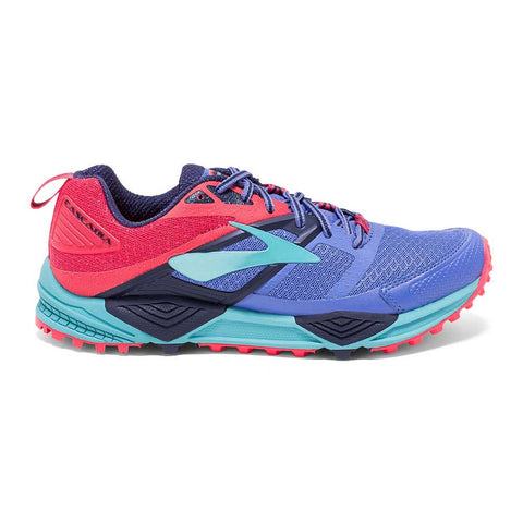 Brooks Womens Cascadia 12 | Baja Blue/Paradise Pink