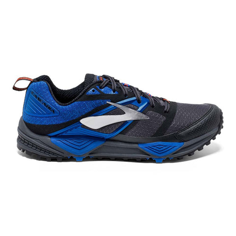 Brooks Mens Cascadia 12 | Anthracite/Blue