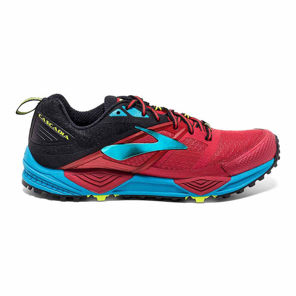 Brooks Mens Cascadia 12 | High Risk Red/Blue