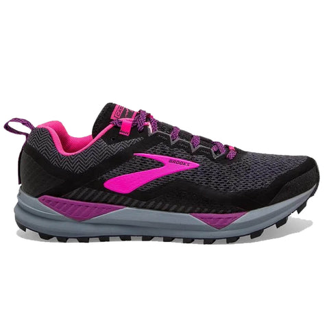 Brooks Cascadia 14 Womens | Black/Hollyhock/Pink