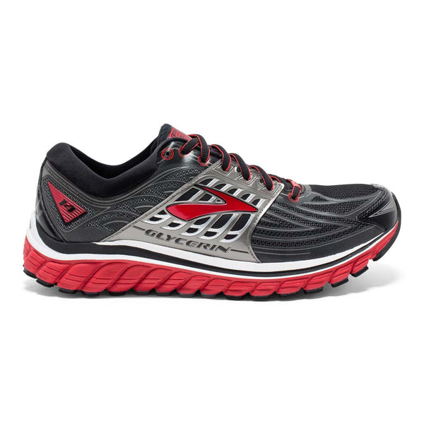 Brooks Mens Glycerin 14 | Black/Red | Wide