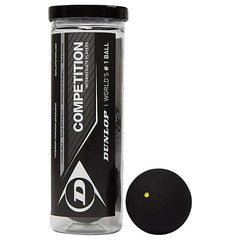 Dunlop Competiton Squash Ball | Single Yellow Dot