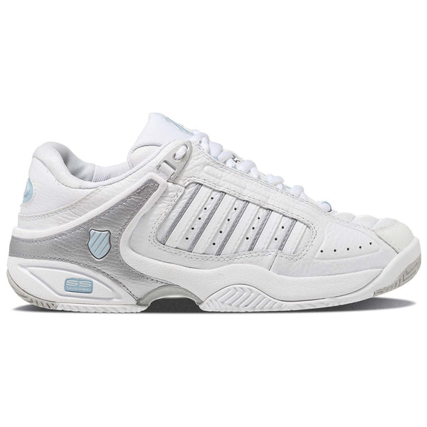 K-Swiss Defier RS Womens Tennis Shoes | White/Blue/Silver