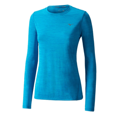 Mizuno Womens Impulse Core Long Sleeve | Ocean Blue