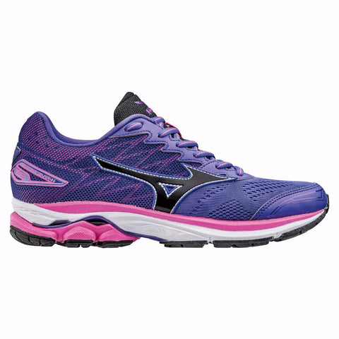 Mizuno Womens Wave Rider 20 | Liberty/Black/Electric