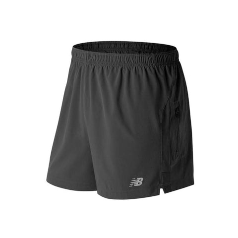 New Balance Mens Impact 5 Inch Track Short | Black