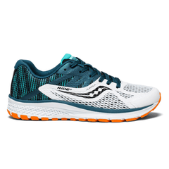 Saucony Ride 10 Junior Shoes | White/Black/Green