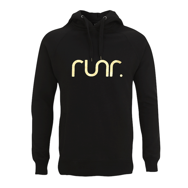 RUNR Hoody | Black/Gold
