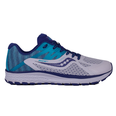 Saucony Ride 10 Junior Running Shoes | White/Blue