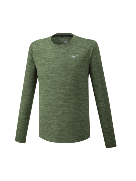 Mizuno Impulse Core Long Sleeve Tee Mens | Khaki