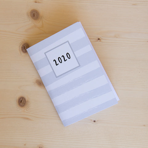 Agenda Pocket A6 Semanal 2020 MINT STRIPES
