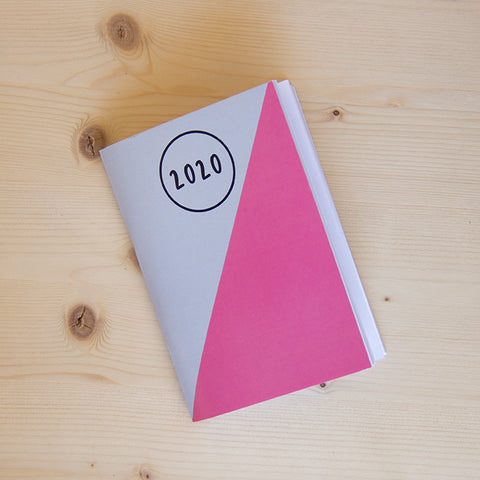 Agenda Pocket A6 Semanal 2020 PINK GREY