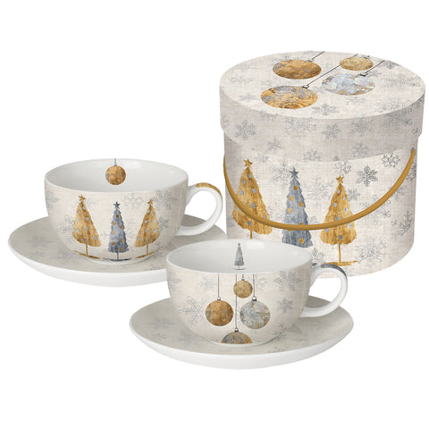 Capuccino Set Holiday Trees