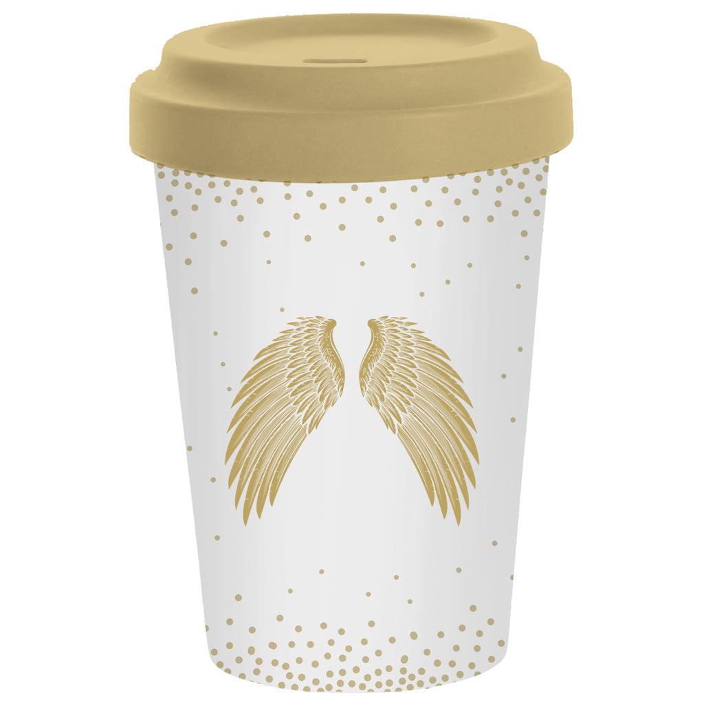 Travel Mug Bamboo Holy Wings