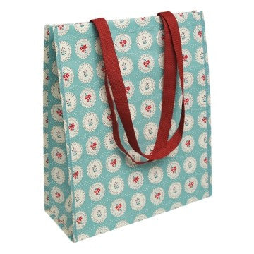 Shopping Bag Floroes Turquesa