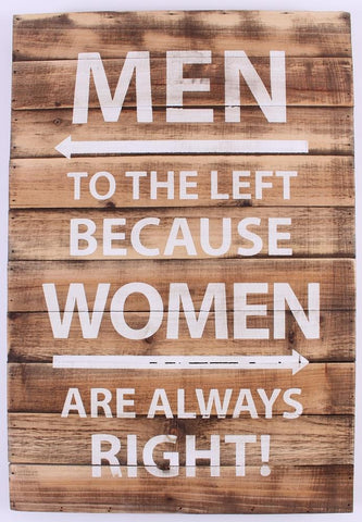 Quadro Men left Women right