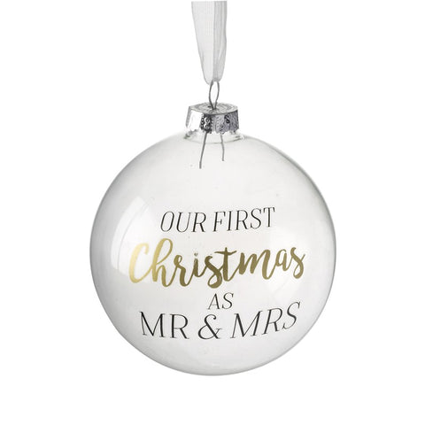 Bola Our First Christmas Mr & Mrs