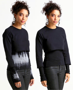 Caprian REVERSIBLE DNA Sweatshirt-black