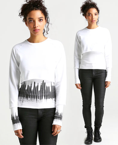 Caprian REVERSIBLE DNA Sweatshirt-white