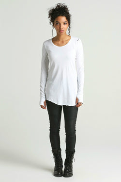 Osil ASYMMETRIC long sleeve Tee