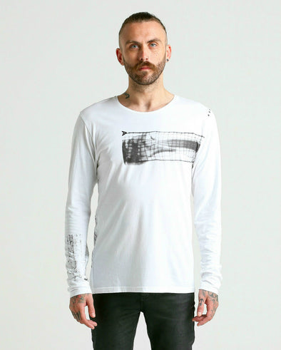 Graphico BROKEN BONE LS Tee-white