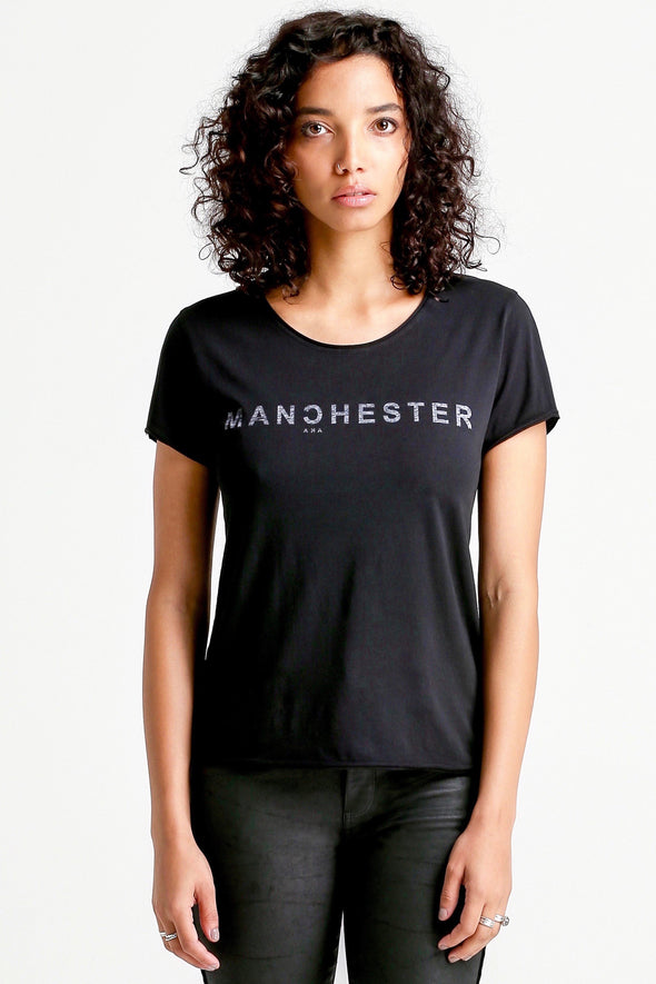 MANCHESTER Tee-black